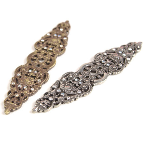 Carpe Diem Juliane Grace Elongated Escutcheon With Swarovski Crystals