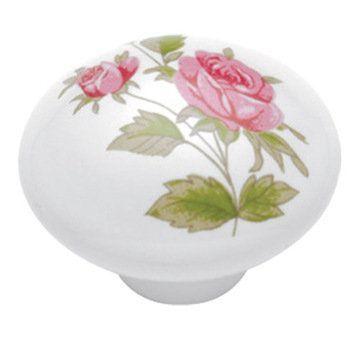 Belwith Keeler English Cozy Pink Rose Knob