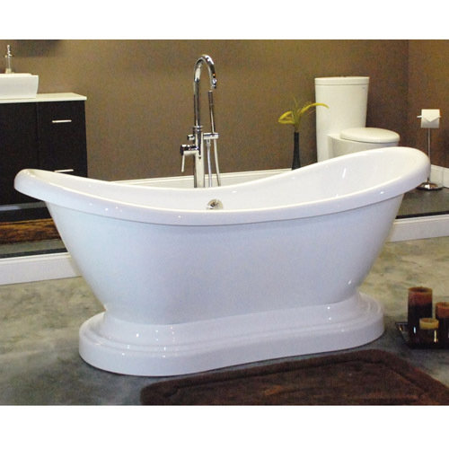 Restorers 68 Inch Double Slipper Pedestal Acrylic Bath Tub