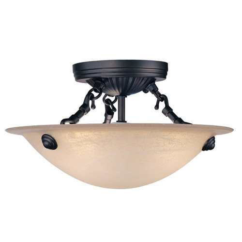 Livex Lighting Home Basics Bronze Semi Flush Ceiling Light