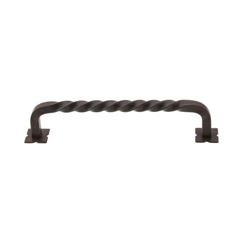 Top Knobs Normandy Twist 6 Inch D Pull With Back Plates