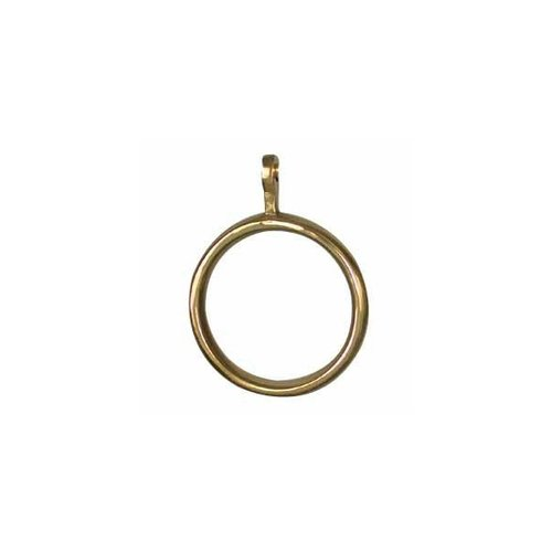 """Restorers 2"""" Solid Brass Curtain Rings"""