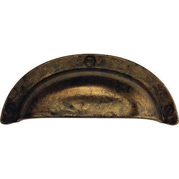 Classic Hardware Antique Primitive Cup Bin Pull
