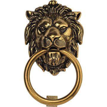 Classic Hardware Brass Lion Door Knocker - Antique Door Knockers Brass Door Knocker Iron Door Knocker For