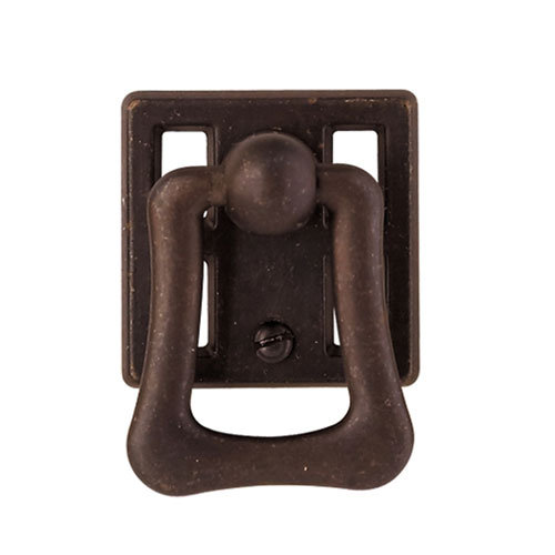Clic Hardware Oriental Series Squared Drop Pull With Backplate