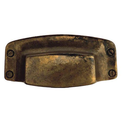 Classic Hardware Primitive Brass Cup Bin Pull