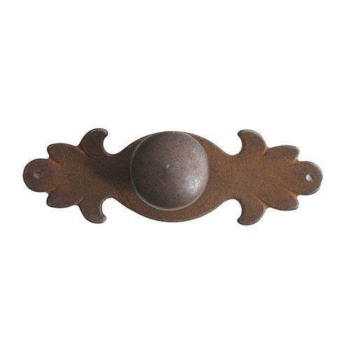 Marella Antique Round Cabinet Knob With Backplate