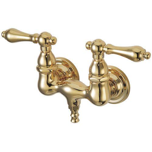 3 3 8 Inch Wall Mount Clawfoot Tub Faucet Metal Lever Van Dyke S Restorers