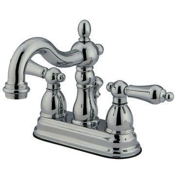 4 Inch Centerset Lavatory Faucet - Metal Lever