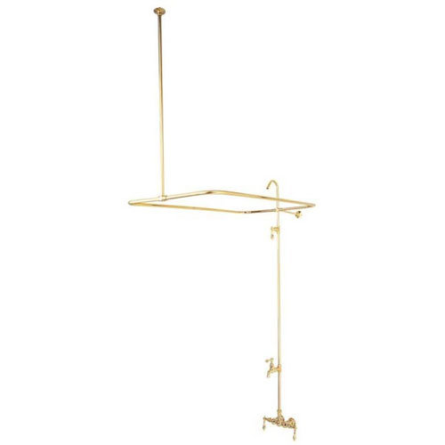 Clawfoot Tub Faucet And Shower System - Metal Lever
