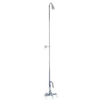 Barclay Diverter Faucet For Cast Iron Tub - Gooseneck Spout With Riser