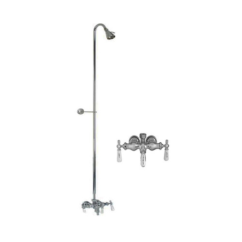 Barclay Diverter Faucet With Riser & Shower Head For Cast Iron Tubs ...