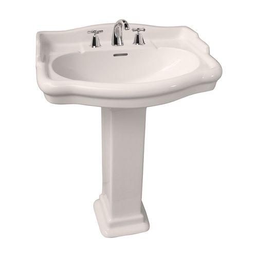 Barclay Stanford 21 3/4 Inch Pedestal Lavatory