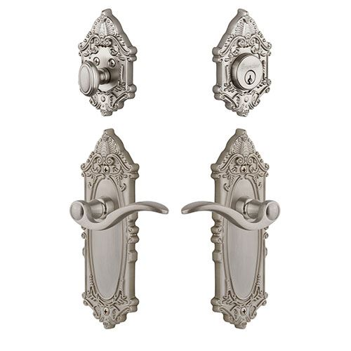 Grandeur Grande Victorian Entry Set With Bellagio Lever - Keyed Differently