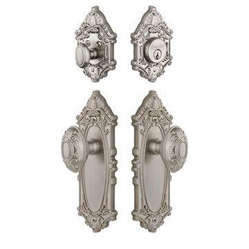 Grandeur Grande Victorian Entry Set With Grande Victorian Knob - Keyed Differently