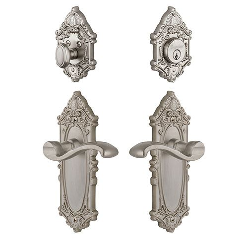 Grandeur Grande Victorian Entry Set With Portofino Lever - Keyed Differently