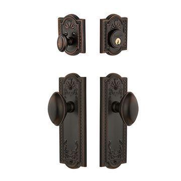 Grandeur Parthenon Single Cylinder Entry Set With Eden Prairie Knob - Keyed Differently