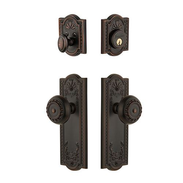 Grandeur Parthenon Single Cylinder Entry Set With Parthenon Knob - Keyed Alike