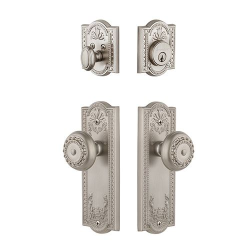 Grandeur Parthenon Single Cylinder Entry Set With Parthenon Knob - Keyed Differently