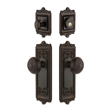 Grandeur Windsor Entry Door Set With Windsor Knob Keyed Alike