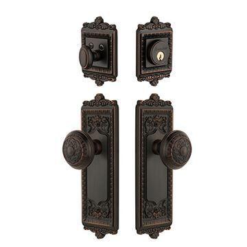 Grandeur Windsor Entry Door Set With Windsor Knob - Keyed Alike