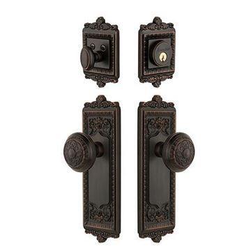 Grandeur Windsor Entry Door Set With Windsor Knob Keyed