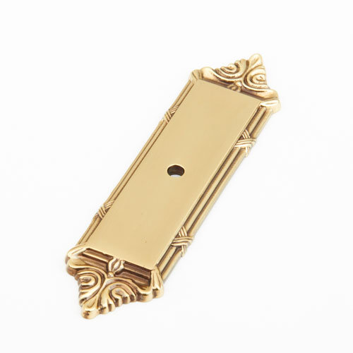 Kitchen Cabinet Pulls With Backplates: Schaub Versailles Rectangular Backplate For Cabinet Knob