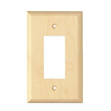 Designs Of Distinction Levington Single Rocker Wood Switchplate