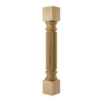 Designs Of Distinction Traditional Large Reeded Column Island Leg