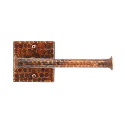 Premier Copper Hand Hammered Copper Toilet Paper Holder