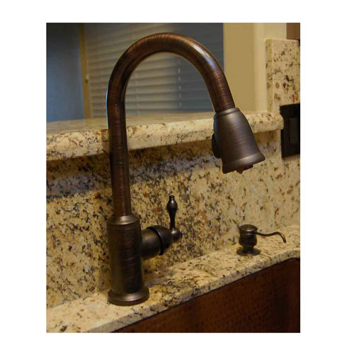 Beautiful Premier Copper Single Handle Kitchen Faucet With Pull Out Sprayer
