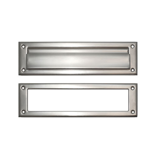 Brass Accents Magazine Mail Slot With Exterior Flap Van