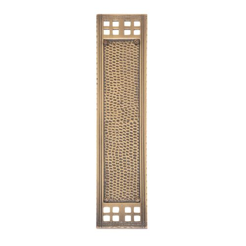 Brass Accents Arts And Crafts Push Plate