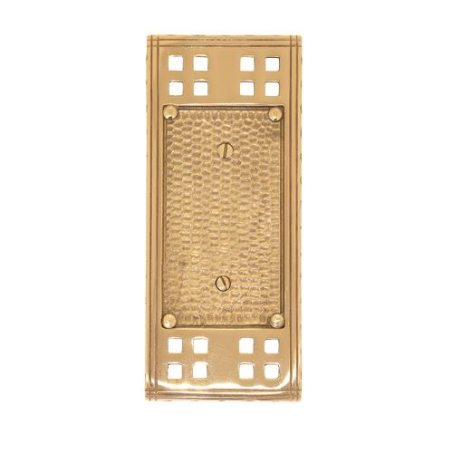 Brass Accents Arts And Crafts Single Blank Switchplate