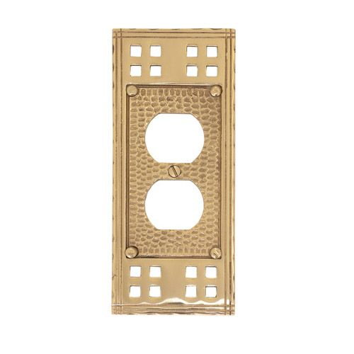 Brass Accents Arts And Crafts Single Duplex Switchplate