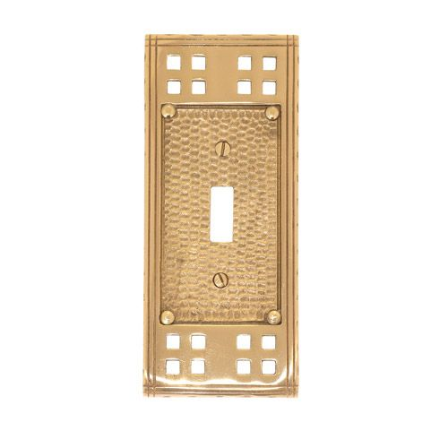 Brass Accents Arts And Crafts Single Toggle Switchplate