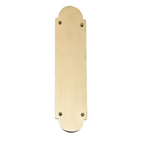 Brass Accents Palladian Push Plate