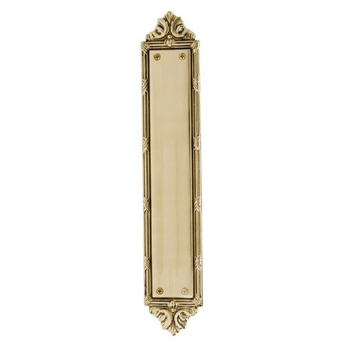 Brass Accents Ribbon And Reed Push Plate