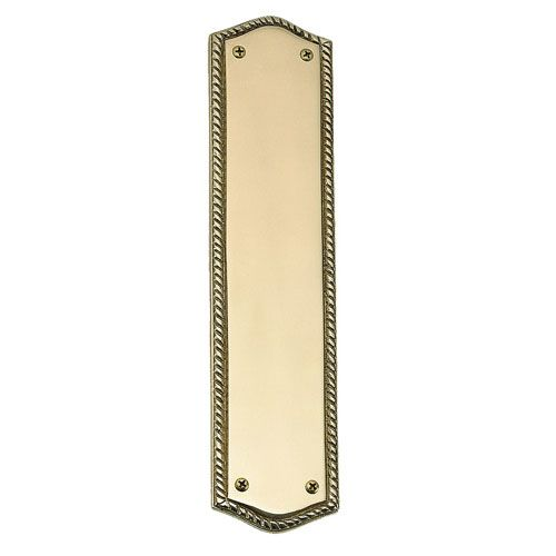 Brass Accents Trafalgar Push Plate