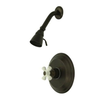 Kingston Brass Vintage Single Handle Shower Only Faucet - Porcelain Cross