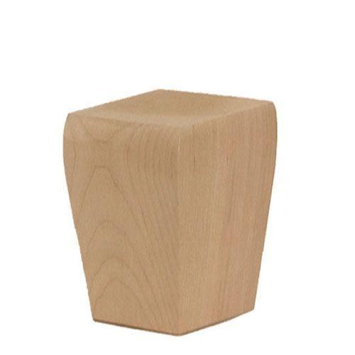 Legacy Artisan Tapered Square 3 1/2 Inch Bun Foot