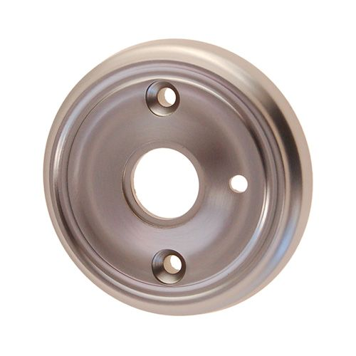 Restorers Classic 2 3/4 Inch Privacy Ringed Door Knob Rosette - Front Mount
