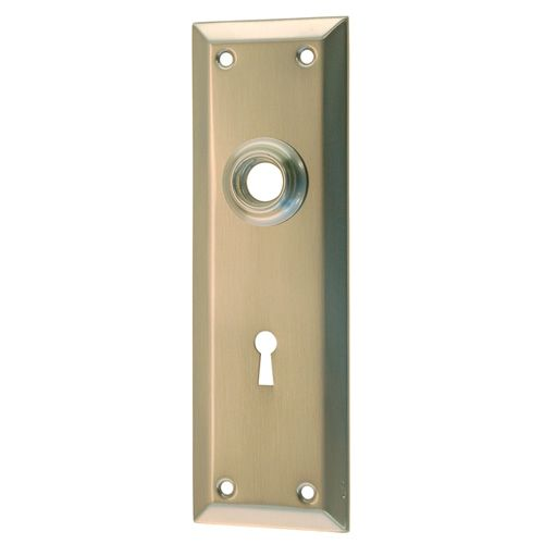 Restorers Classic 7 Inch Plain Backplate Only With Keyhole