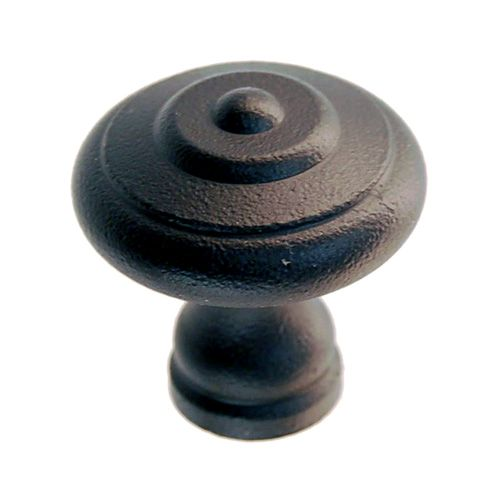 Restorers Classic Black Cast Iron Round Cabinet Knob