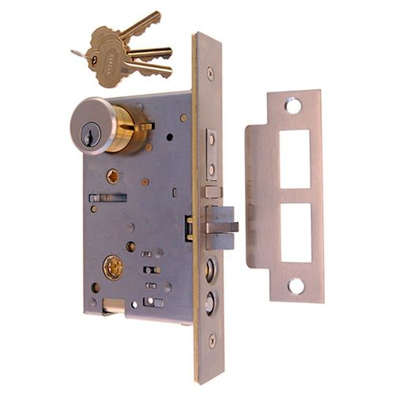 Restorers Classic Knob To Handle Entry Mortise Door Lock - 2 1/2 Inch Backset