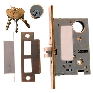 Restorers Classic Knob To Knob Entry Mortise Door Lock - 2 3/4 Inch Backset