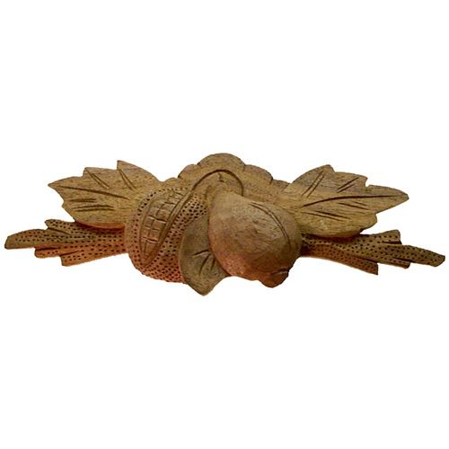 Restorers Classic Large Fruit & Leaves Wooden Pull