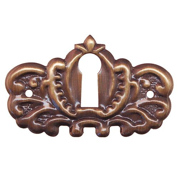 Restorers Classic Stamped Victorian Keyhole Escutcheon