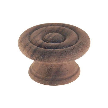 Restorers Classic Walnut Knob With Rings