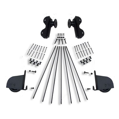 Quiet Glide Contemporary Rolling Library Ladder Hardware Kit - Rolling Hook